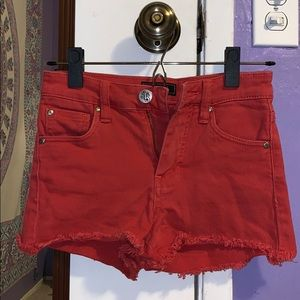 Nordstrom STS Blue, Red Rusty High Waisted Shorts